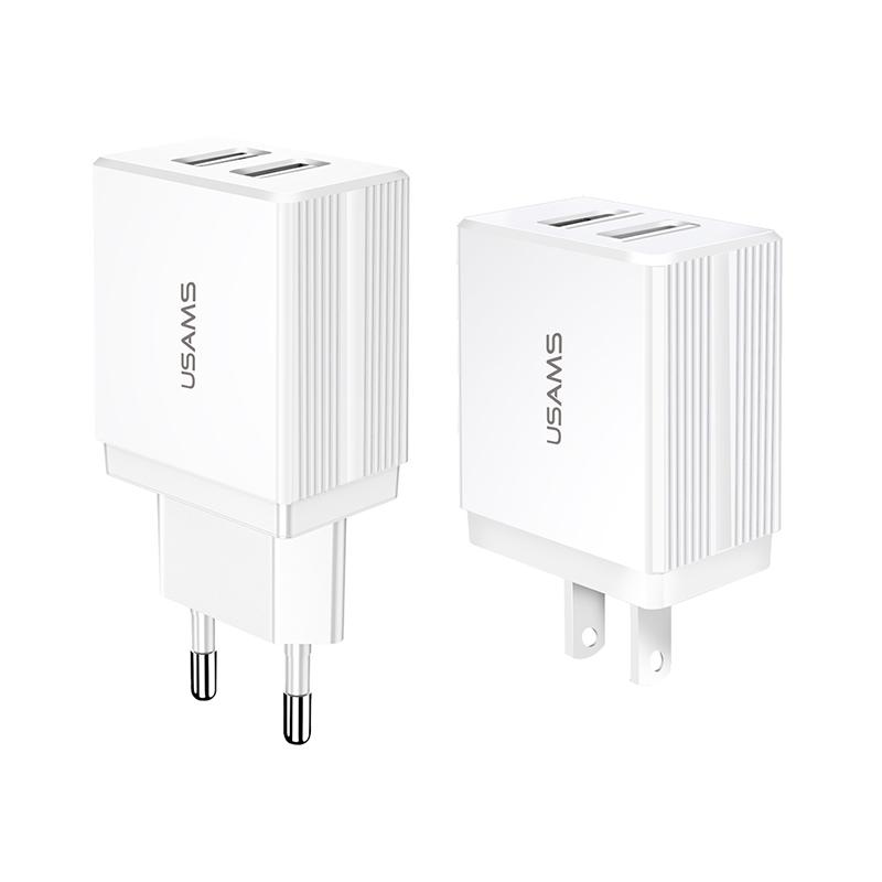 US-CC089/US-CC090 T24 2.1A 双USB旅行充电器 美规/欧规
