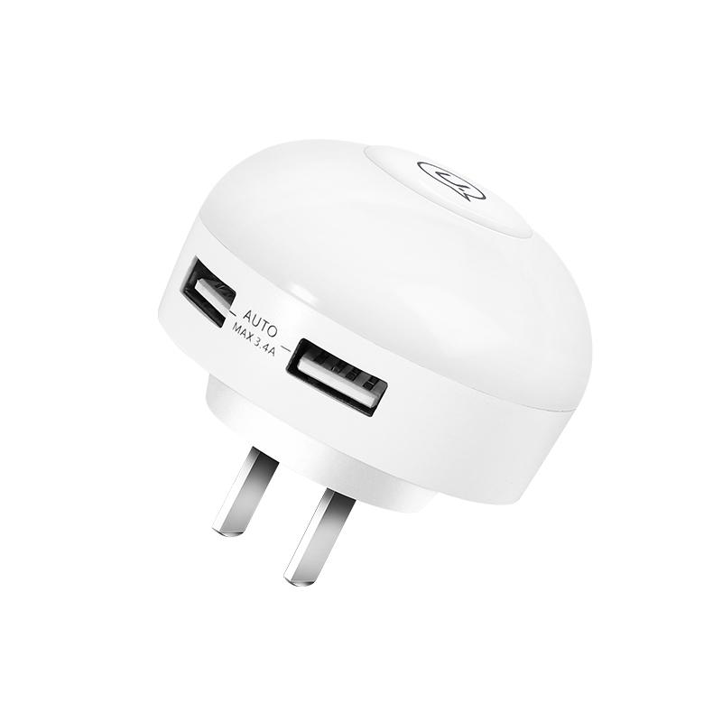 US-JD060 L1双USB手触式感应小夜灯充电器