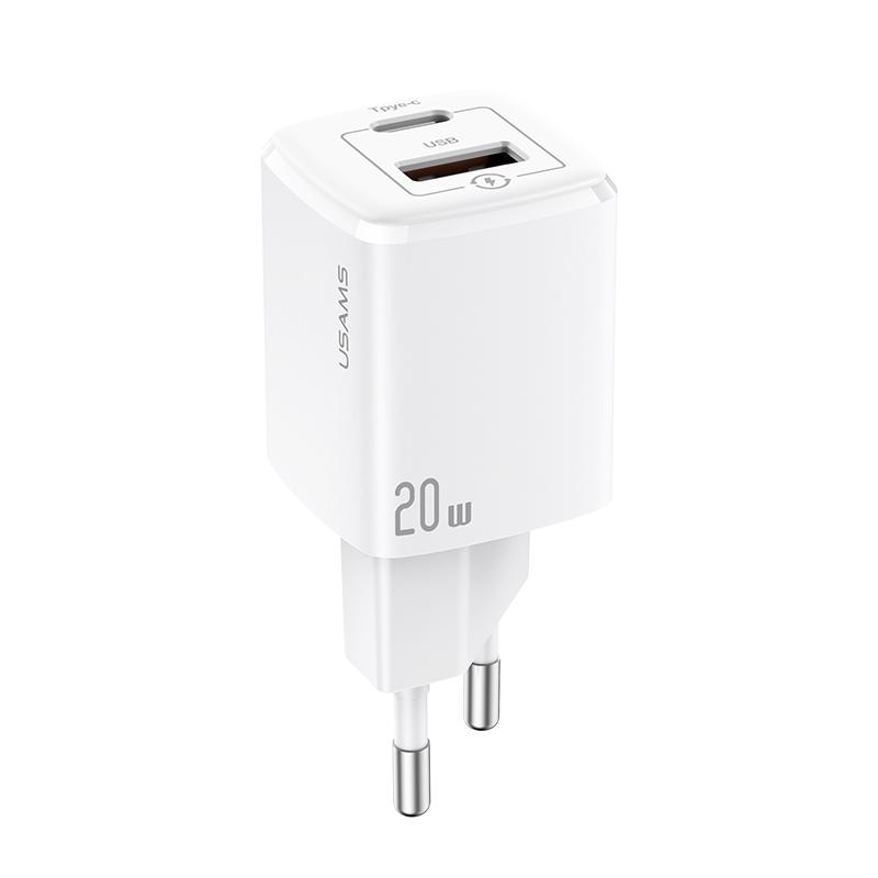 US-CC128 T37 QC+PD mini快充充电器20W 欧规